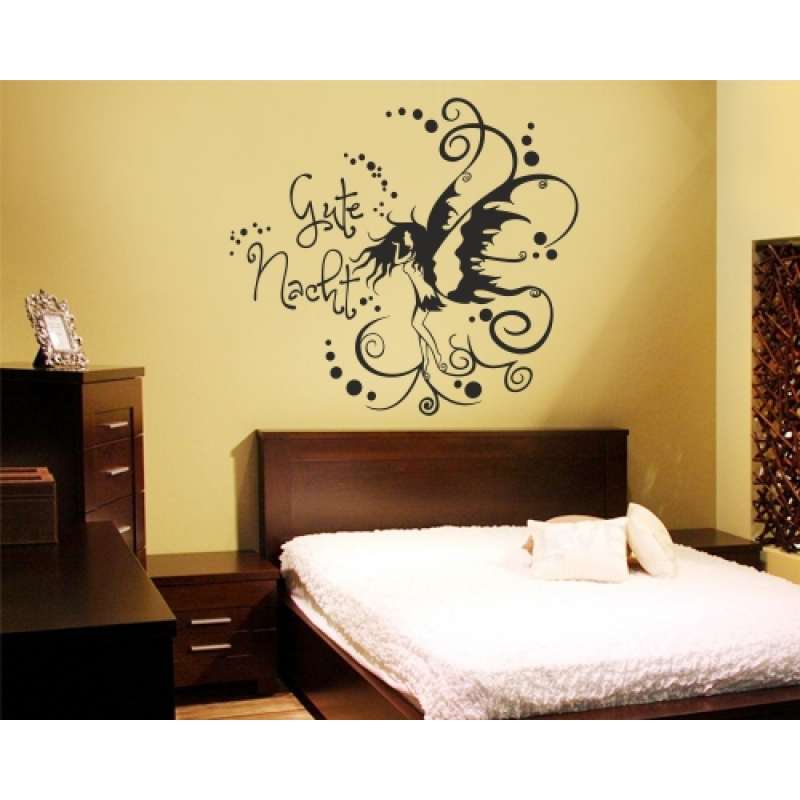 wandtattoo gute nacht elfe wandtattoos schlafzimmer. Black Bedroom Furniture Sets. Home Design Ideas