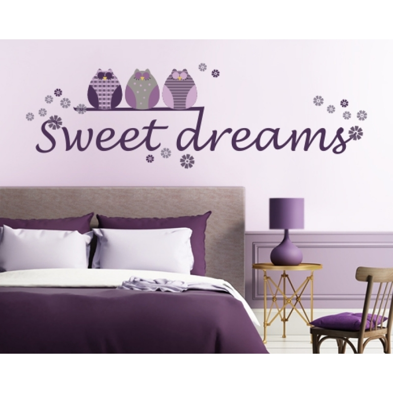 wandtattoo eulen sweet dreams wandtattoos kinderzimmer. Black Bedroom Furniture Sets. Home Design Ideas