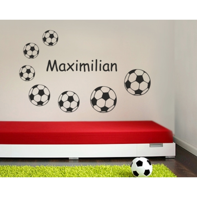 wunschname wandtattoo fu ball wandtattoos kinderzimmer. Black Bedroom Furniture Sets. Home Design Ideas