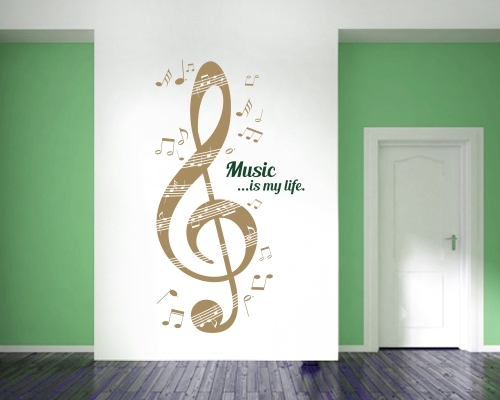 Wandtattoo Musik Is My Life