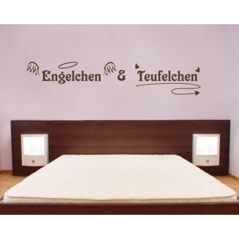 wandtattoo engelchen und teufelchen. Black Bedroom Furniture Sets. Home Design Ideas